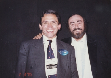 Enrique Osorio, Luciano Pavarotti. Bogotá - Colombia 1995