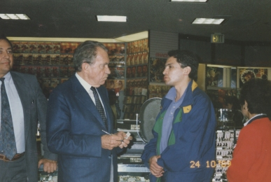 Richard Nixon, Enrique Osorio, Los Angeles - USA 1989
